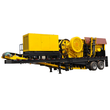 China supplier tractor car body mobile stone jaw crusher for sale