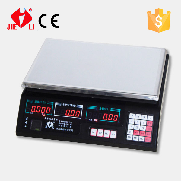 China electronic price computing scales with white/black housing