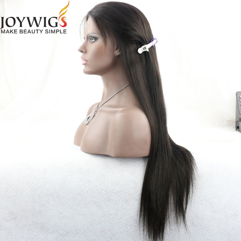 Best selling silky straight indian remy long hair wigs for men