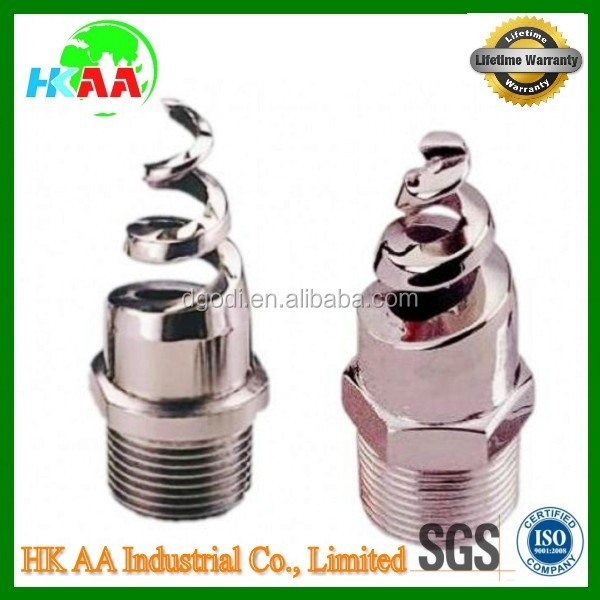 Custom good quality spiral water jet nozzle, water spray hose nozzle