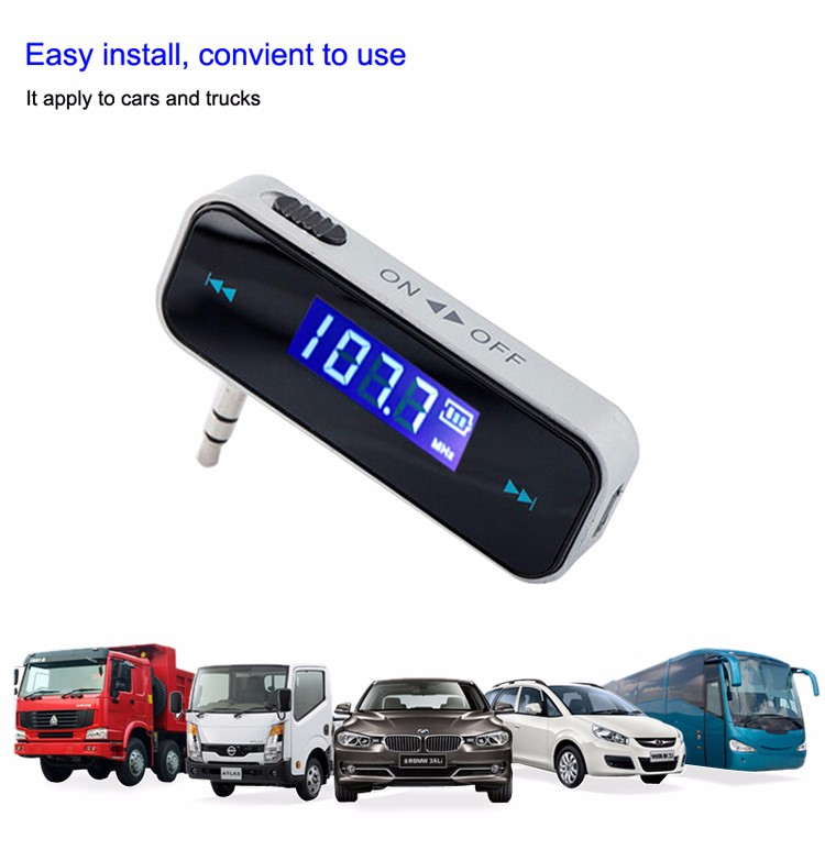 Car Bluetooth Audio Receiver Adapter FM transmitter 3.5  for smartphone iphone samsung xiaomi .jpg
