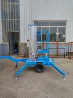 Hydraulic 10M single mast lift with good quality