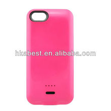 Hot Sale Candy Color Power Pack for iPhone 5C,3200mAh External Backup Battery Charger Case For iPhone 5C