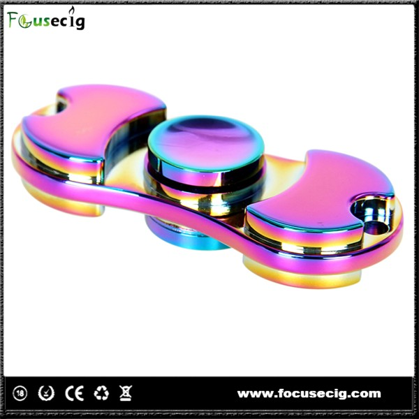 2017 rainbow hand spinner metal fidget spinner <strong>toy</strong>