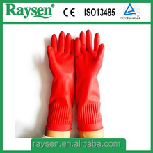 Rubber long cuff household latex top gloves