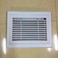 Plastic return air filter grille with frame