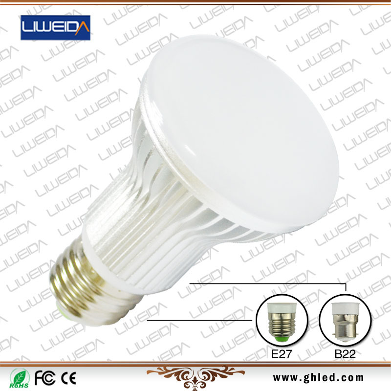 ultra bright aluminum housing 7W led home light bulb
