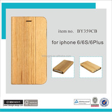 Best selling hot chinese products phone wood flip cases for iPhone 6s