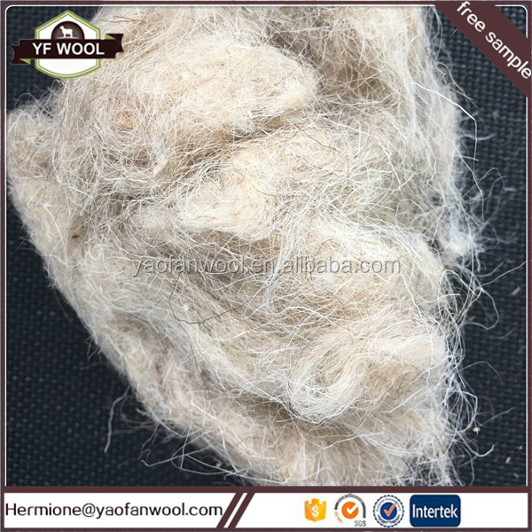best selling china raw sheep wool noils wool waste felt use