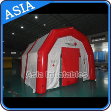 Inflatable mobile workshop building exhibition stands hospitality tent for storage / Portable inflatable garage tent workshop