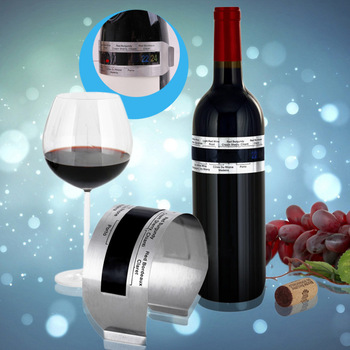 Stainless Steel LCD Electric Red Wine Digital Thermometer