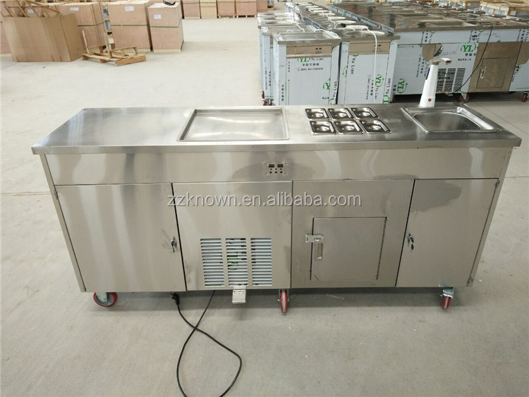 Best quality compressor long service life fried ice cream roll machine