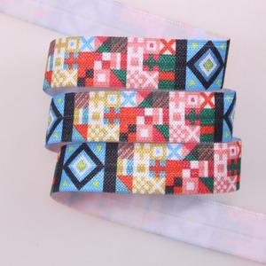 fold over glitter elastic 3/8