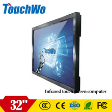 Cheap 32 inch infrared monitor touch screen display lcd all in one computer