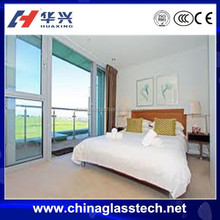 CE certificate soundproof aluminum alloy balcony glass partition