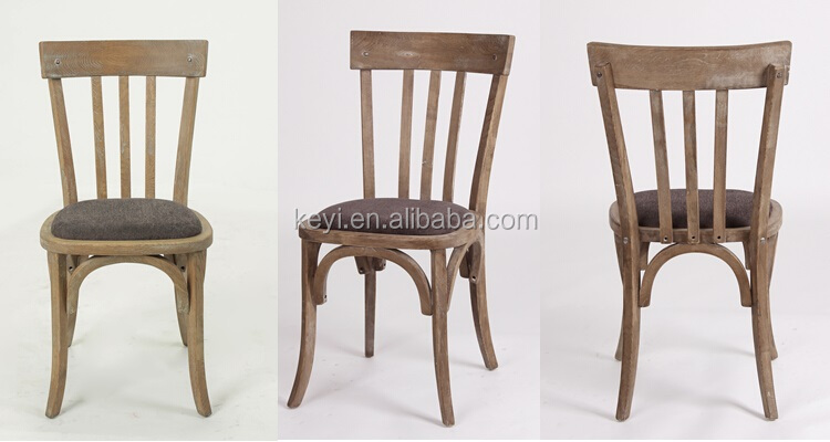 Antique wooden armless dining chair/ Restaurant chair(CH-272-OAK)
