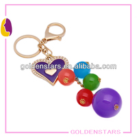 Corlorful big Beads keychain 100% handcraf 2013 Hot selling