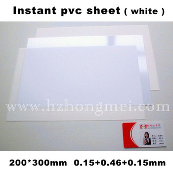 pvc overlay to make plastic card