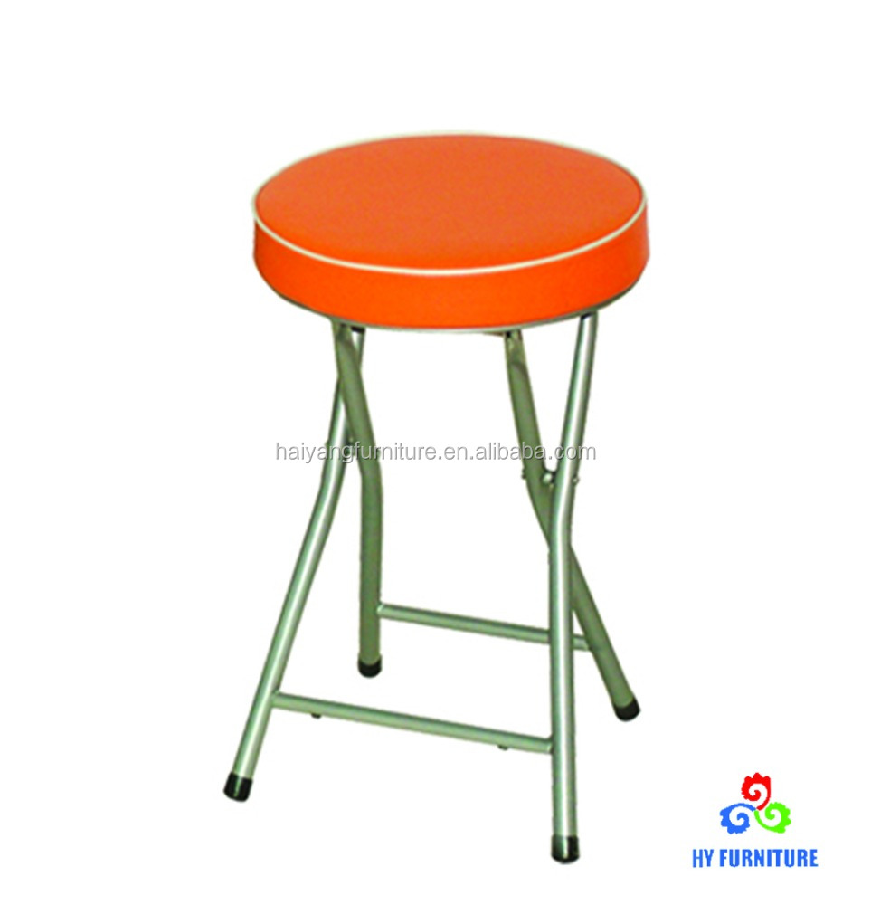 Small lightweight folding stools with cushion