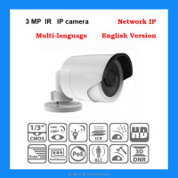 100% Guaranteed IP Camera ir bullet network camera HD 3MP IR Support POE ds-2cd2032-i