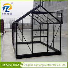 Indoor Croft Aluminium Base Mini Steel Shed Glass Green House with Window