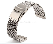 milanese men 24mm stainless steel watch strap