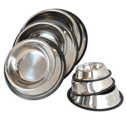 wholesale pet bowl steel bowl stainless steel bowl of dog different size