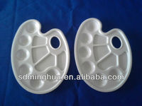white color pisciform plastic paint palette