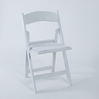 Wholesale white resin folding outdoor wedding chair
