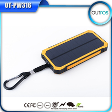 Promotional price fashion powerful solar energy 12000mah solar power bank charger