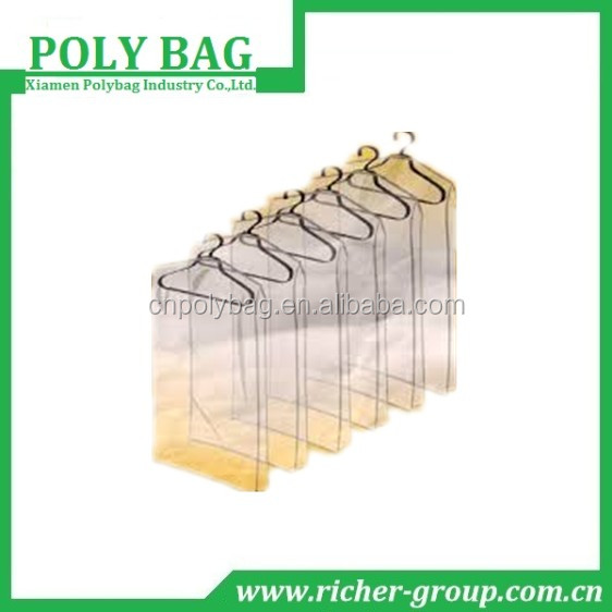 oem dust cover clear garment plastic bag Hanging Clothing