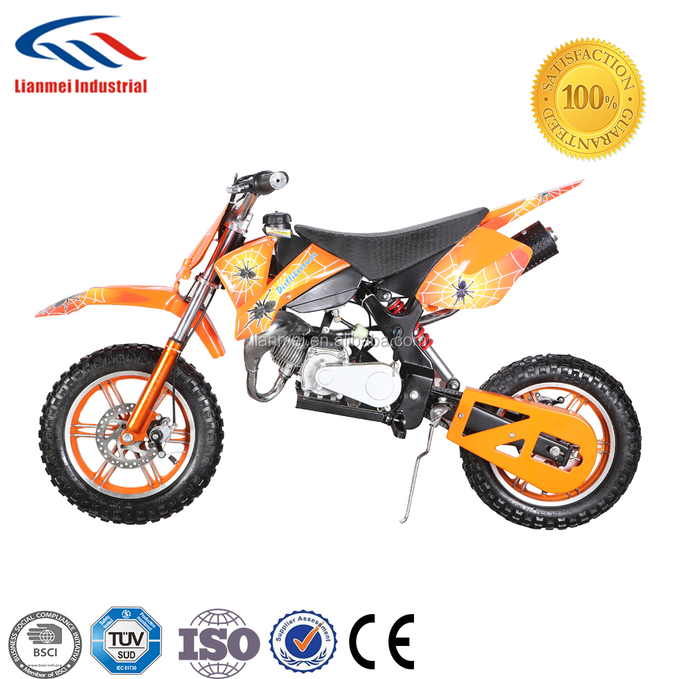 2 wheel 49cc mini dirt bike with alloy pull starter