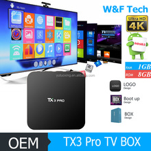 New hot selling products 2017 TX3 Pro 2.4G WiFi world max great bee digital tv converter box