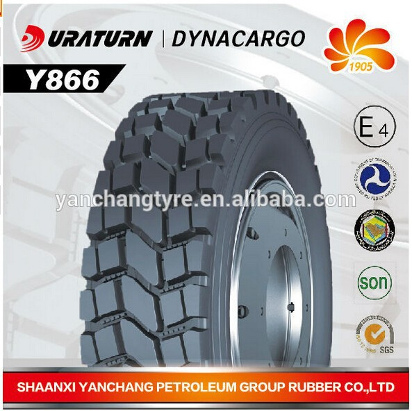 Y866 pattern Duraturn radial truck and lorry tire 10.00R20 11.00R20 12.00R20 for highly carrying capacity harsh using condition
