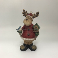 Cheap Funny Christmas Resin Deer Statues