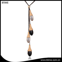 Waterdrop crystals pendant necklace multilayer fashion jewelry necklace