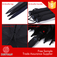 high quality 190t pongee fabric with fiberglass ribs for umbrella