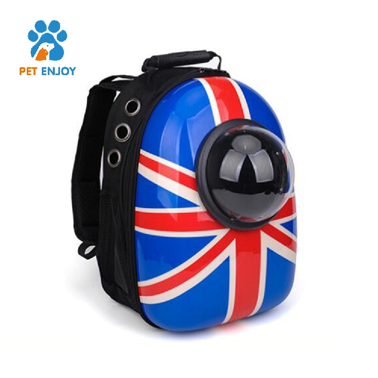Pet Carrier Backpack Space Capsule PU Leather Dog Cat Small Animals Travel Bag