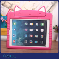Kitty cartoon 3D kids stand eva foam 9.7 inch tablet case cover for Apple iPad Air