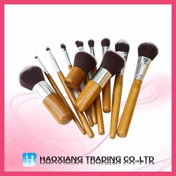 Large assortment glitter makeup brush natural hair makeup brush set go pro makeup brush