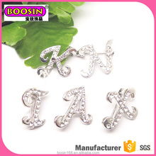 2017 Popular custom design jewelry logo alphabet letter brooches
