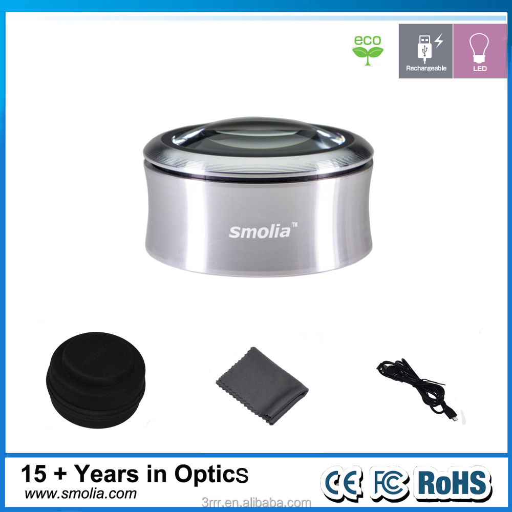 Smolia XC Rigid magnifier sheet large lense new arrival metal glass