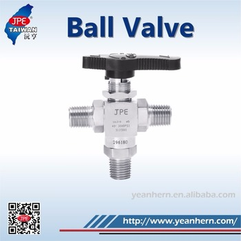 Inquiry Service Provide Service Support 3/8'' Male NPT Thread 3 Way Ball Valve