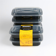 Transparent Pp Round Disposable Takeaway Lunch Food Box Take Out Away Wholesale Plastic Storage Container