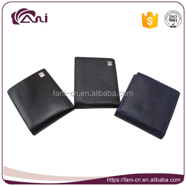 Custom brand name men wallet high quality cowhide leather befold wallet