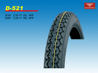 Newest design 2.25-17 4PR motorcycle tire with mixed pattern