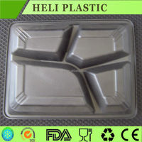 4 compartment microwavable food grade plastic trays hot sales