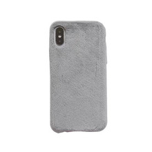 Salable simple brief luxury candy color velvet furry plastic case phone cover for iphone 6 6s