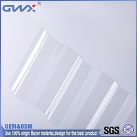 Skylight Polycarbonate Corrogated Roofing/10 Years Guarantee Clear Corrugated Plastic Roofing Sheets