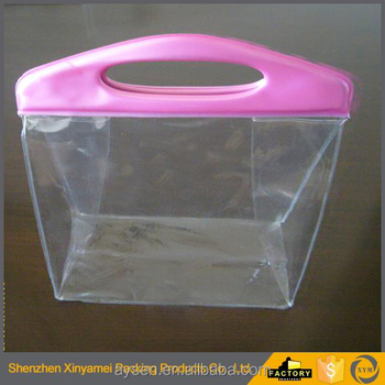 pvc zip lock garment bag high quality shinny promotional pvc bag , Clear Plastic Zipper Garment Bag